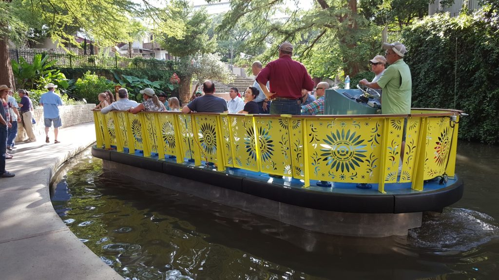 The colorful new river barges designed by METALAB.